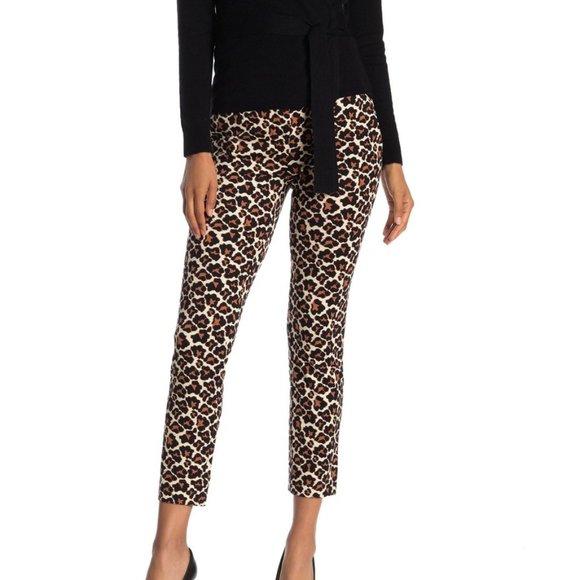 Diane Von Furstenberg Leopard Print Trousers